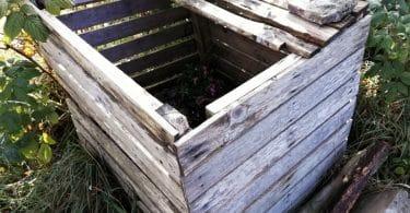 composteur en bois de palette